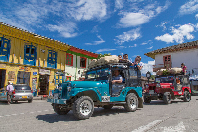 Rondreis Colombia Quindio Koffieregio per 'klassieke' Willy-jeep naar de Valle de Cocora