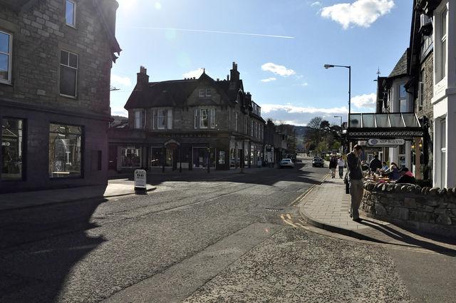 Straat Pitlochry Schotland