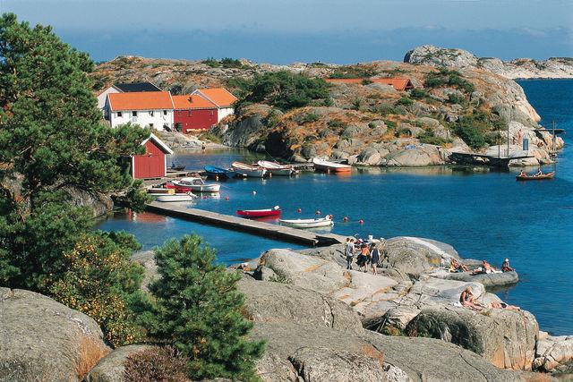 Skottevik dorp Noorwegen