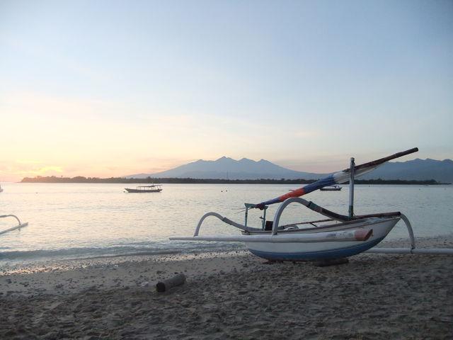 Gili Trawangan Strand boot Bali