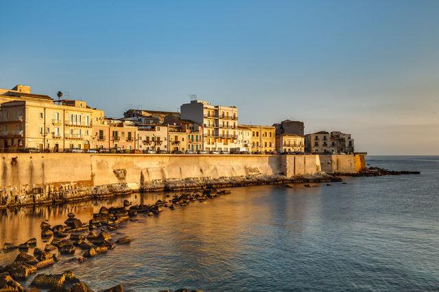 Italië Sicilië Syracuse kust
