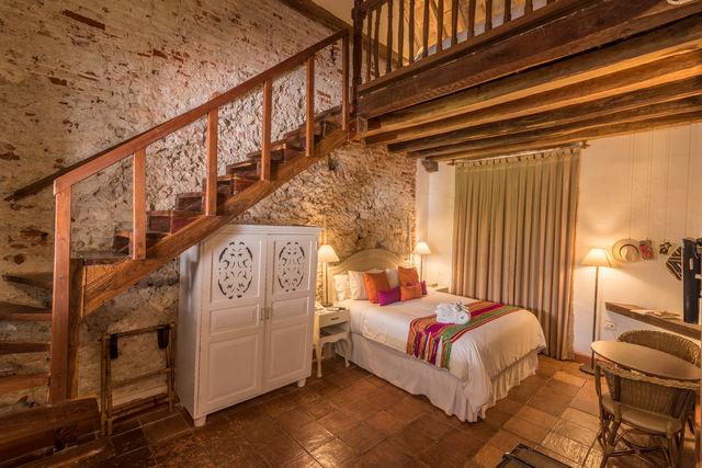 Rondreis Colombia hotel Bantu Cartagena split level slaapkamer