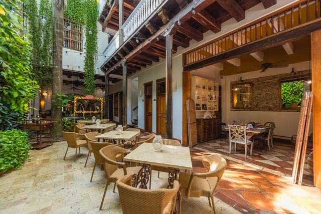 Rondreis Colombia hotel Bantu Cartagena ontbijtdeel