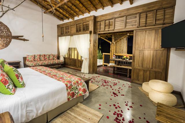 Rondreis Colombia Risaralda Pereira Casa San Carlos Lodge slaapkamer
