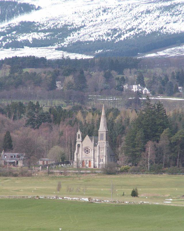 Kerk Tarland gebergte Schotland