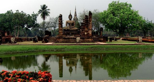 Tempel Sukhothai park Thailand