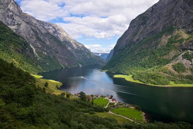 Naeroyfjorden Flåm Vestland Noorwegen
