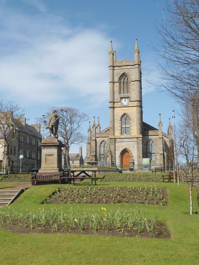 Thurso kerk plein Schotland