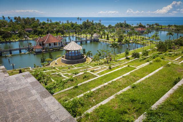 Tirtagangga Water Paleis Bali Indonesië