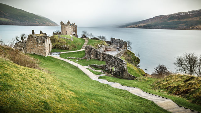 Ruïnes Urquhart kasteel Schotland