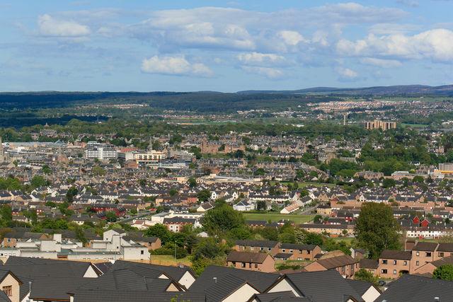Inverness stad uitzicht Schotland