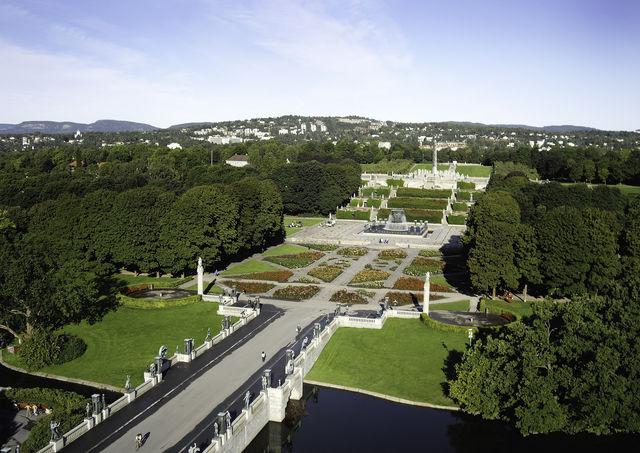 Vigeland Sculpture Park Oslo Oslofjord Noorwegen
