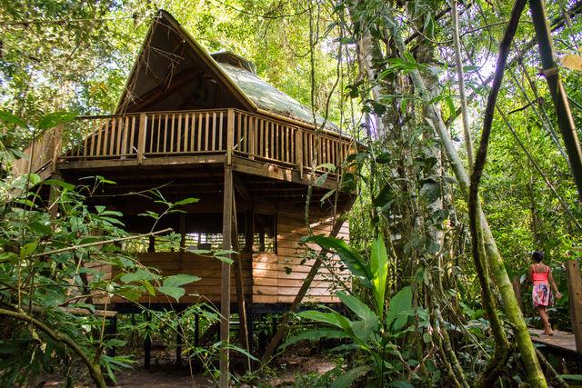 Rondreis Colombia Meta La Macarena Manigua Lodge het eetgedeelte