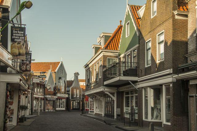 Straat Volendam Noord-Holland Nederland