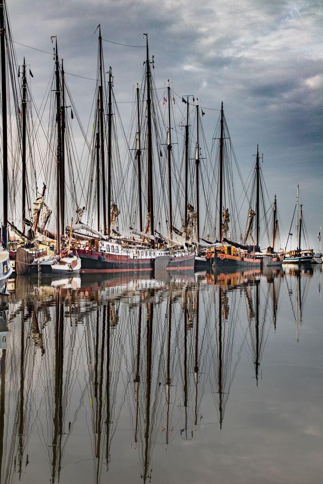 Zeilboten Volendam Noord-Holland Nederland