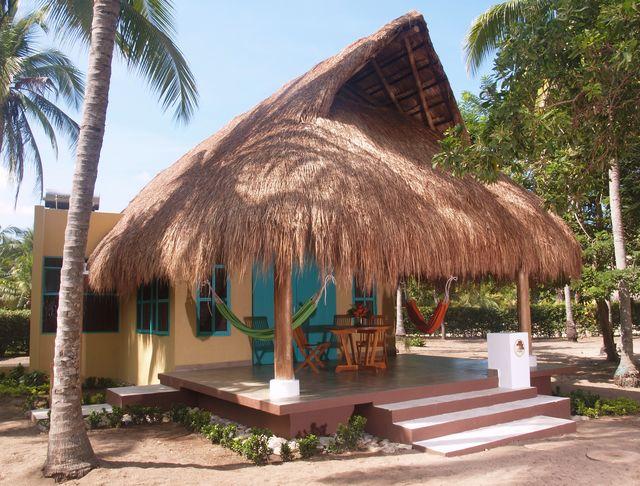 Rondreis Colombia Magdalena Palomino Beach Aite Eco lodge een cabana met eigen terras