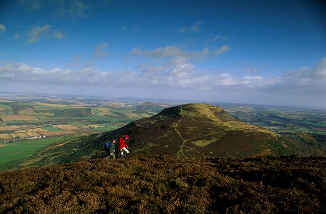 Wandelen Eildon berg Schotland
