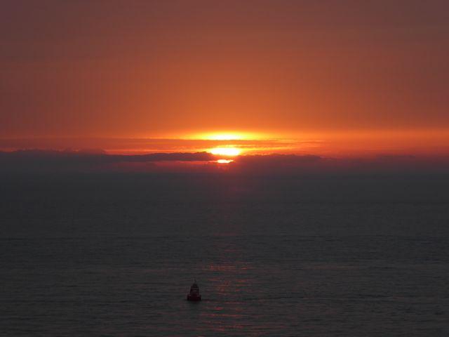 Zonsondergang bij Zoutelande Zeeland Nederland