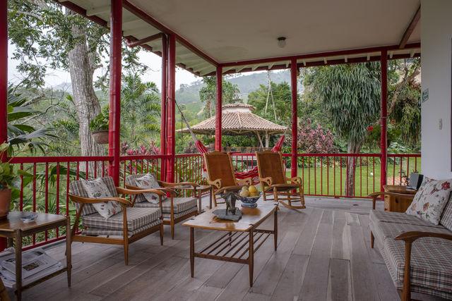 Rondreis Colombia Quindio Manizales Hacienda Venecia de lounge area