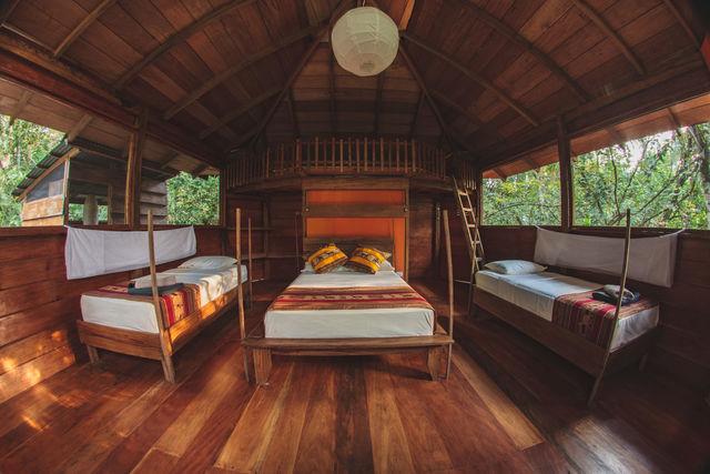 Rondreis Colombia Meta La Macarena Manigua Lodge interieur cabin