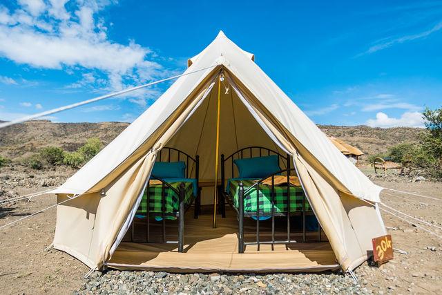 Rondreis Tanzania Lake Natron kleine tent