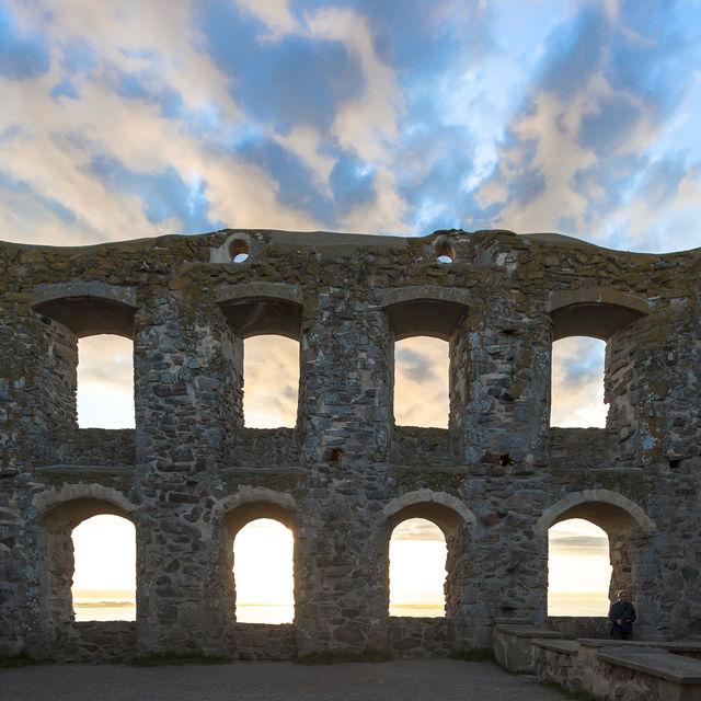 Ruïne Brahehus kasteel Zweden