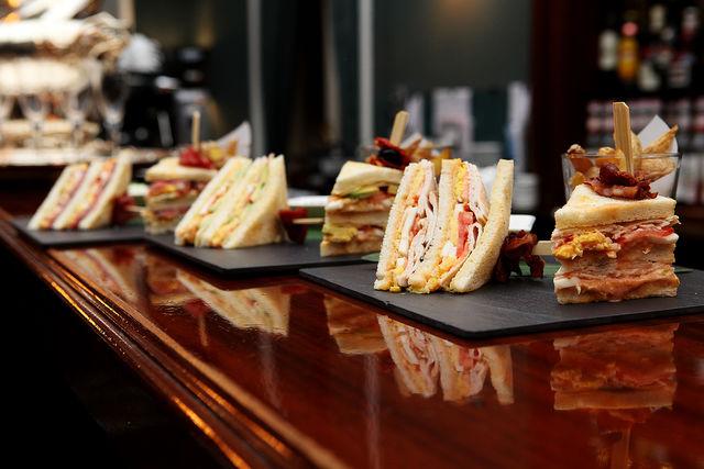 Palace Hotel Luzern restaurant sandwich