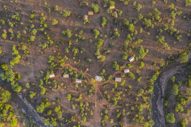 Rondreis Tanzania Serengeti luchtfoto