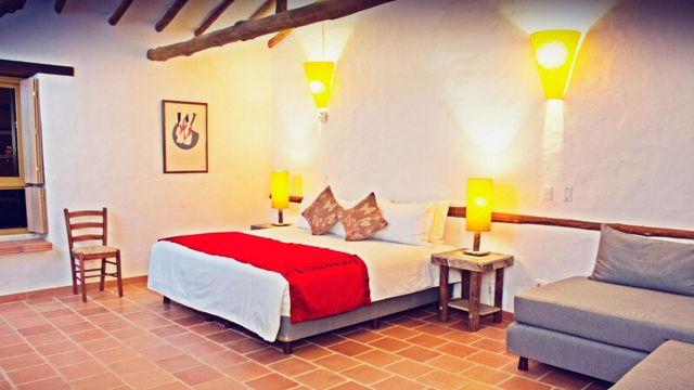 Rondreis Colombia Santander Barichara Terre Barichara voorbeeld slaapkamer
