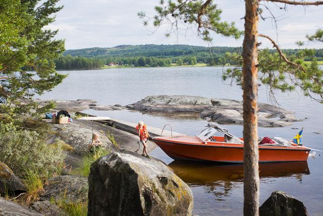 Prästön boot Dalarna Zweden