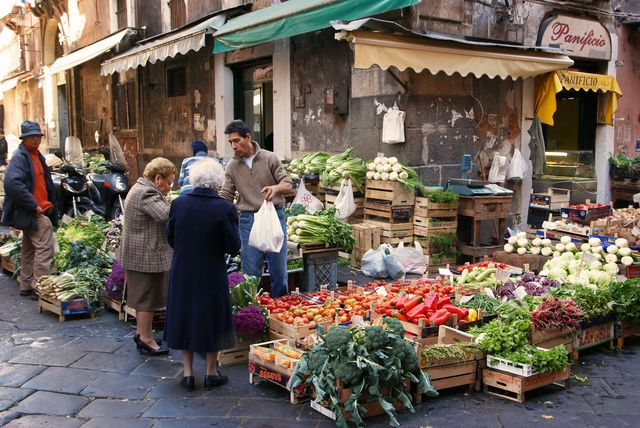 Italië markt verse groenten