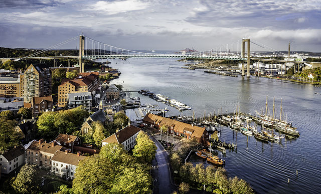 Haven brug Göteborg Zweden