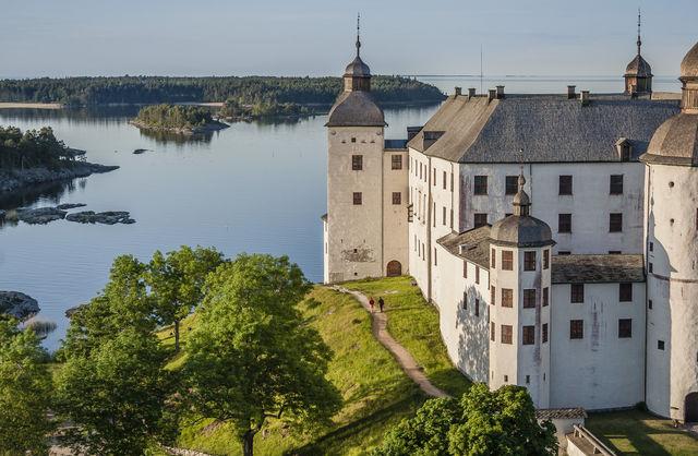 Kasteel Läckö meer Vänern Zweden