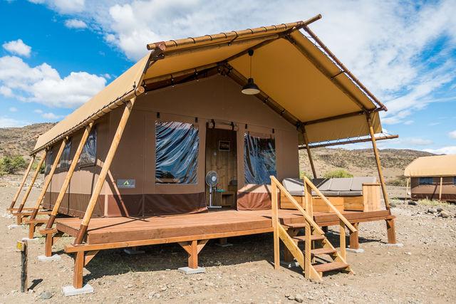 Rondreis Tanzania Lake Natron Luxury glamping tent
