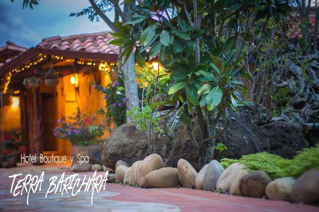 Rondreis Colombia Santander Barichara Terre Barichara met detail massage ruimte