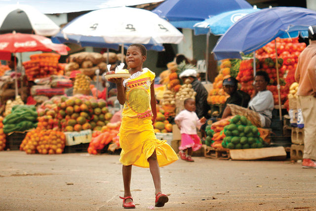 rondreis zuid-afrika Swaziland markt