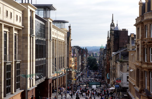 Glasgow straat Schotland