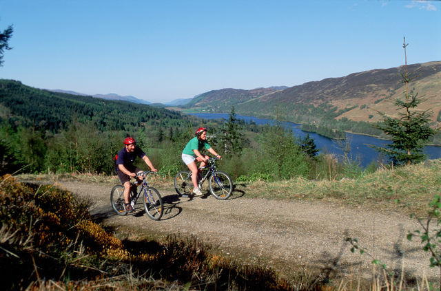 Fietsen route great glen Schotland