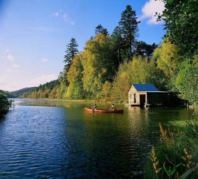 kanoe Loch Park Schotland