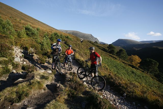 Cairngorms national park mountainbike Schotland