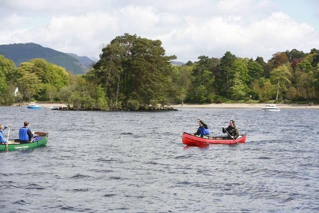 Kano rivier Tummel Pitlochry Schotland