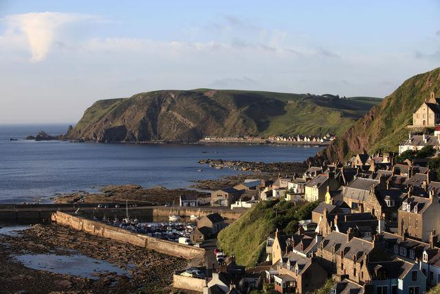 Kust Aberdeenshire Schotland