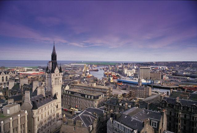 Aberdeenshireshire stad Schotland