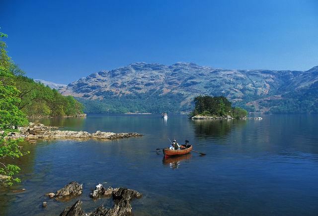 Loch Lomond roeien Schotland