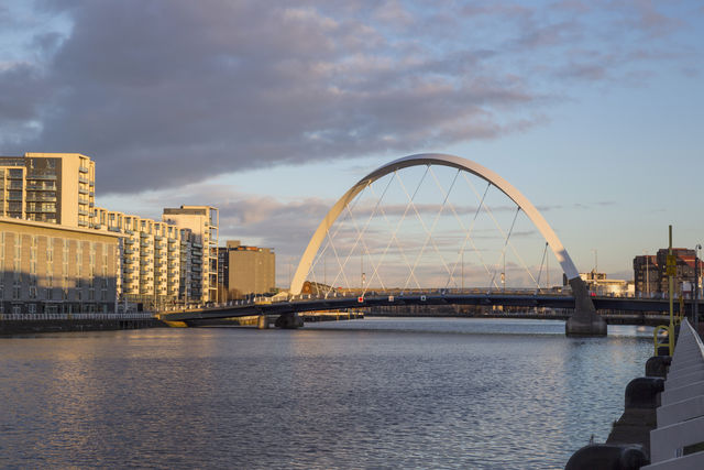 brug Clyde Arc rivier Glasgow