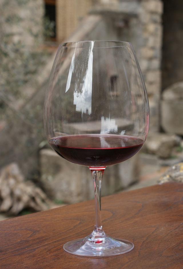 Italië rode wijn glas