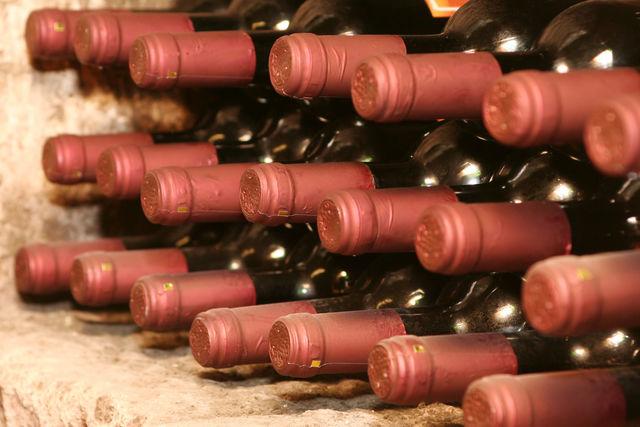 Italië flessen wijn