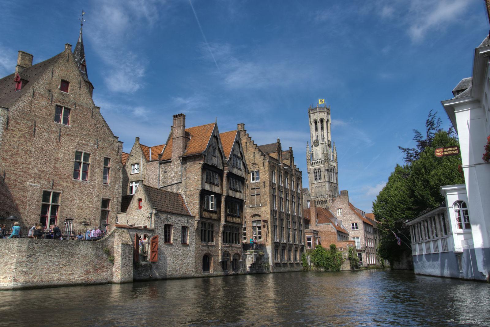 Uitzicht van Rozenhoedkaai - Brugge